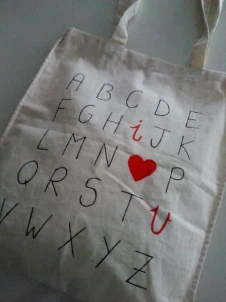 bolsos de lona pintados V