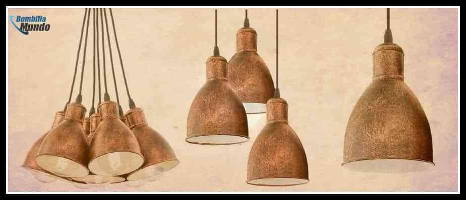 Lámparas vintage de estilo industrial grupos