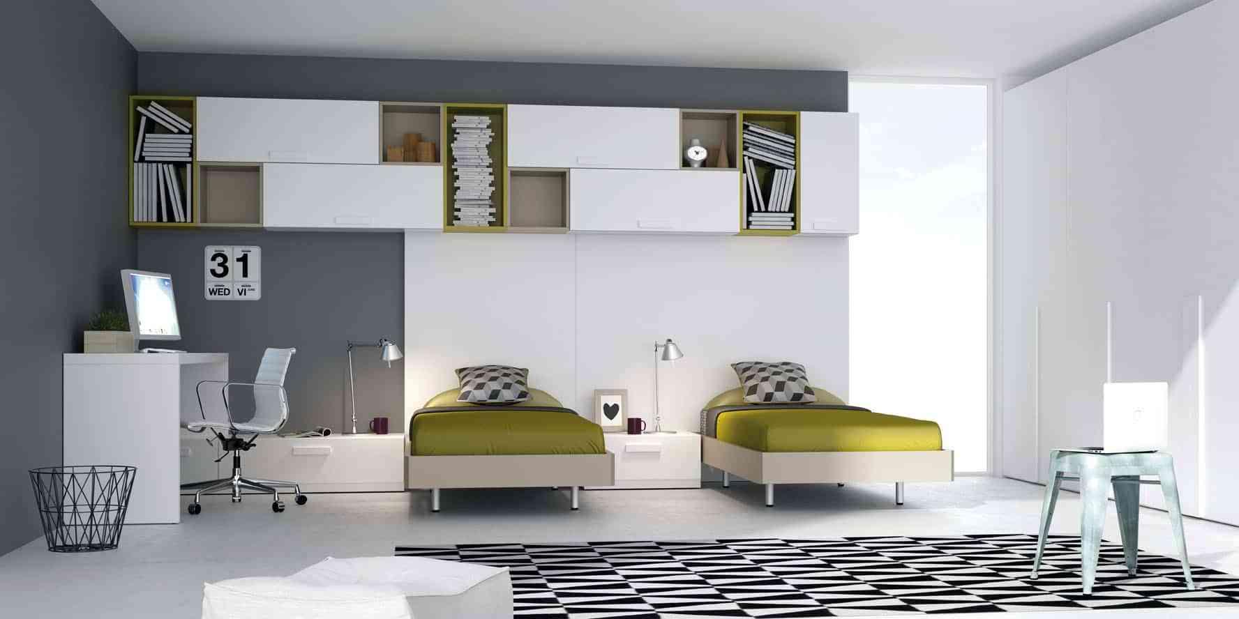 Dormitorios juveniles de dise o moderno a los que no podr for Habitaciones juveniles con cama grande