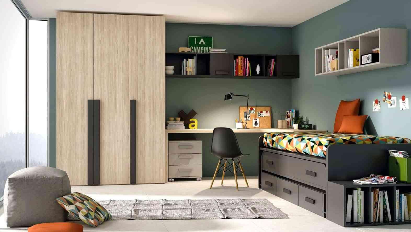 Dormitorios juveniles de dise o moderno a los que no podr for Diseno de muebles dormitorios juveniles