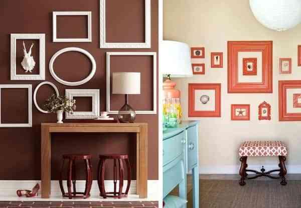 10 ideas para decorar tu hogar con marcos de escayola - Como decorar un marco de fotos ...