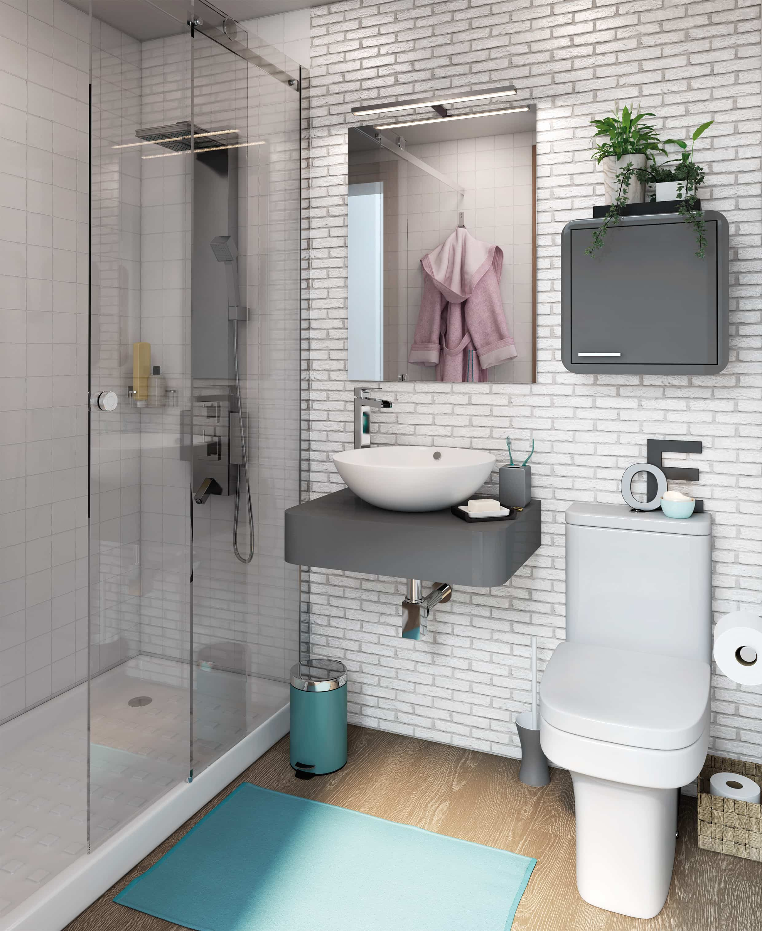 8 ba os muy peque os con un excelente uso del espacio - Fotos de banos muy pequenos con ducha ...