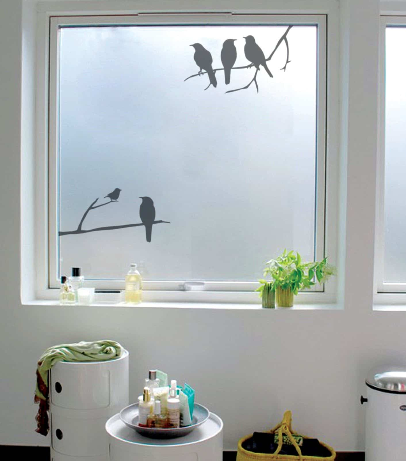 Vinilos o cristales decorativos para ventanas con celos - Cristales para paredes ...
