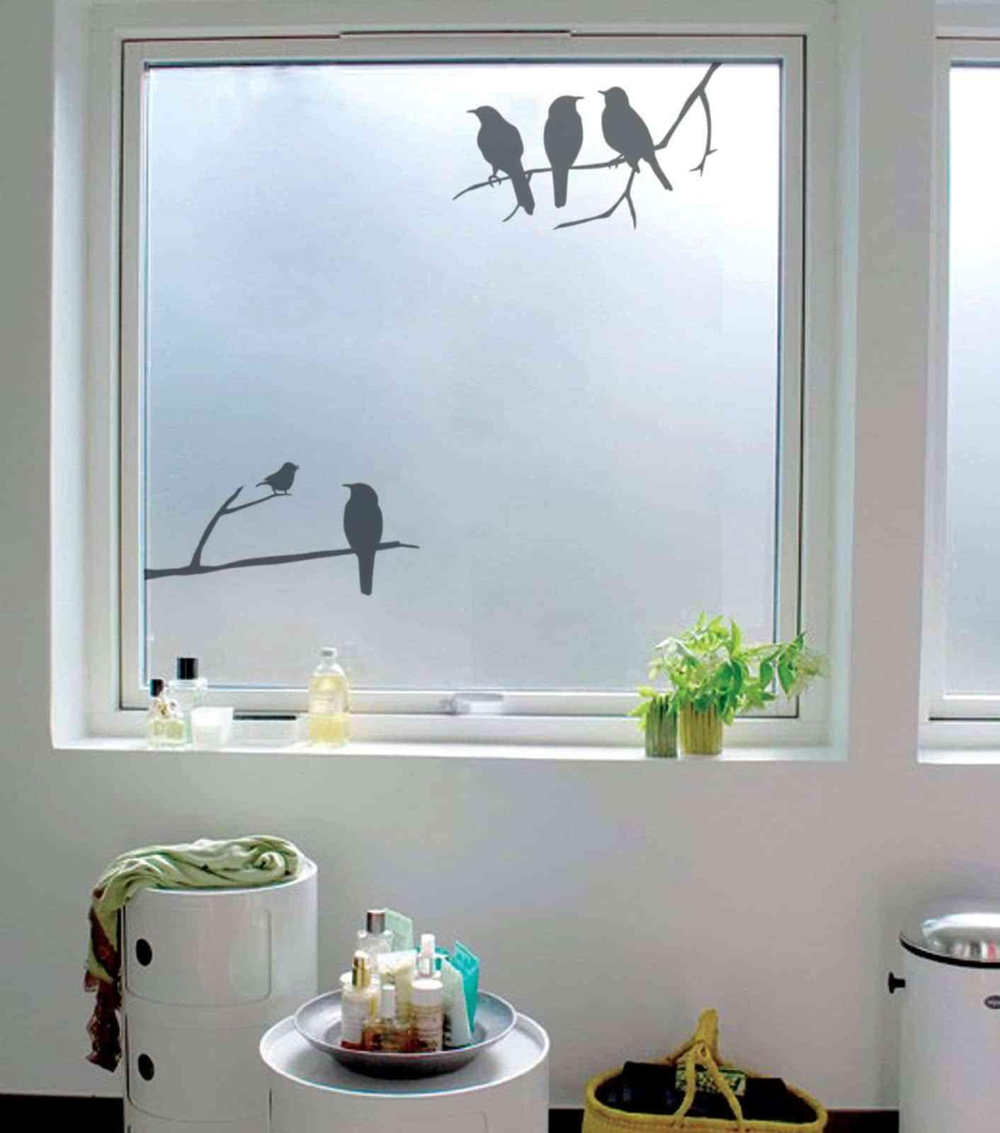 Vinilos o cristales decorativos para ventanas con celos - Pegatinas para mamparas de bano ...