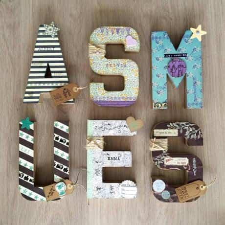 letras de madera VI