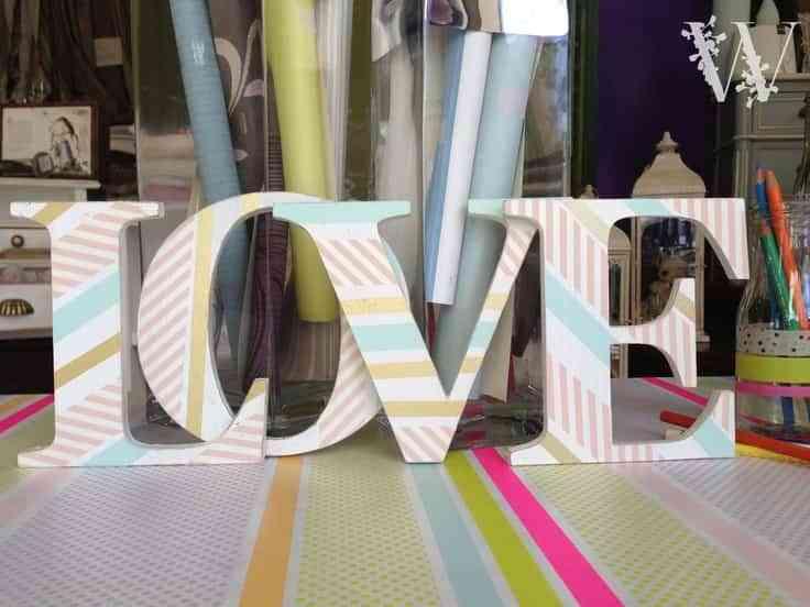 letras de madera VIII