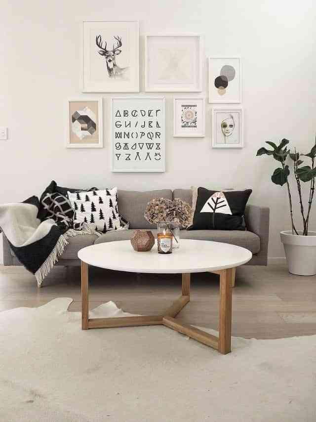 5 Ideas Para Decorar Con Cuadros Modernos Sobre El Sofa - Cuadros-modernos-salon