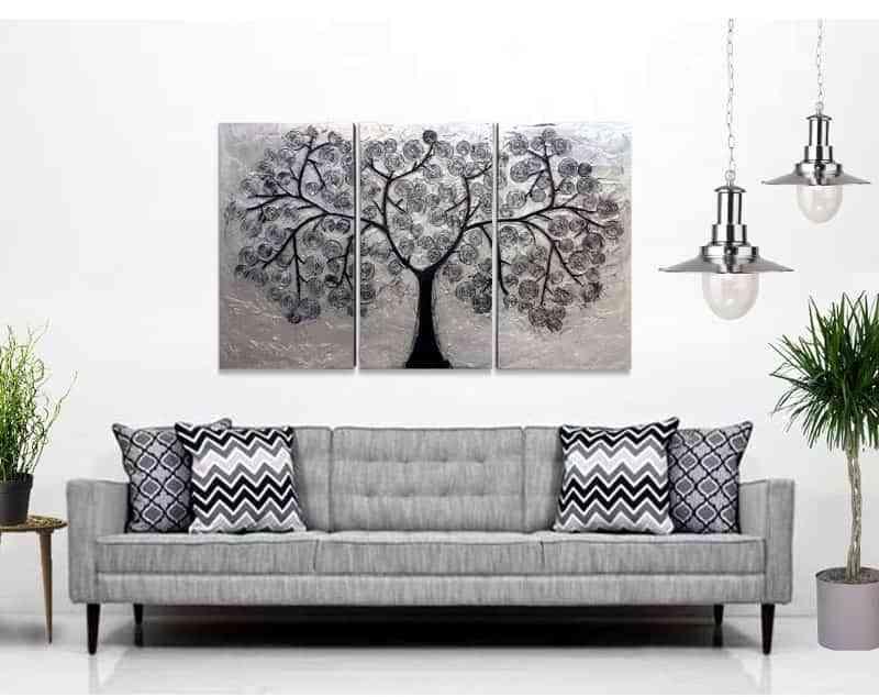 5 ideas para decorar con cuadros modernos sobre el sof for Cuadros alegres para salon