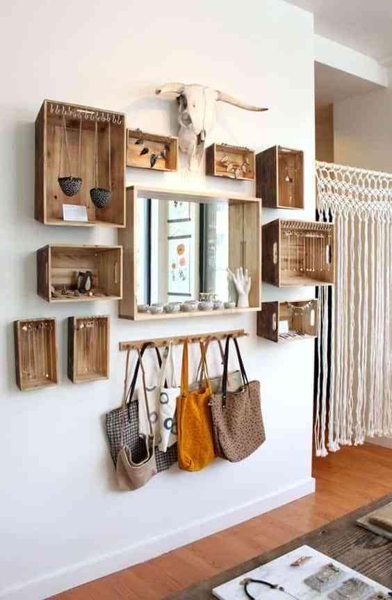 muebles con cajas de madera VIII