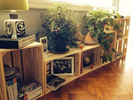 muebles con cajas de madera XI