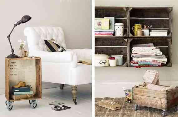 muebles con cajas de madera I