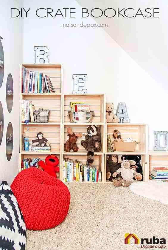 muebles con cajas de madera V