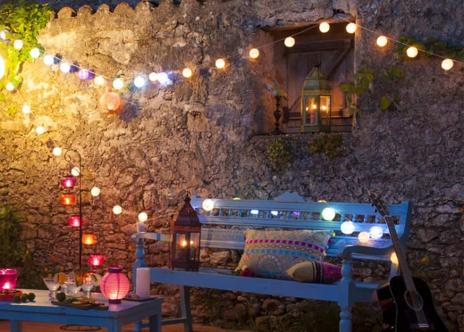 iluminar la terraza