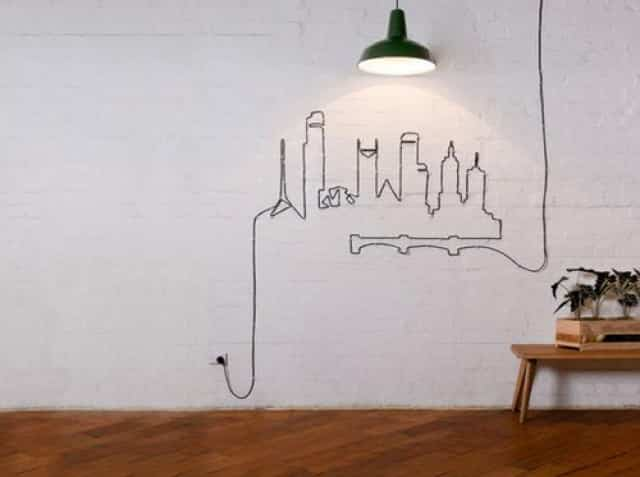 10 ideas para decorar con cables ¡y dejar por fin de esconderlos!