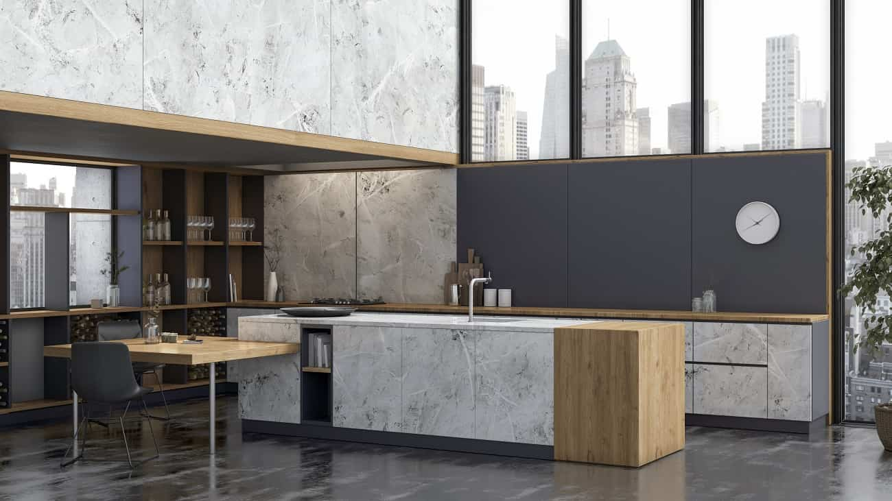 Consigue cocinas con car cter nico con los nuevos acabados stucco y fusion de innovus - Cocinas con estuco ...