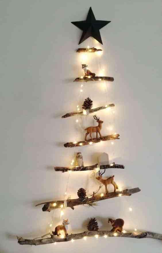 arbol de Navidad de madera III