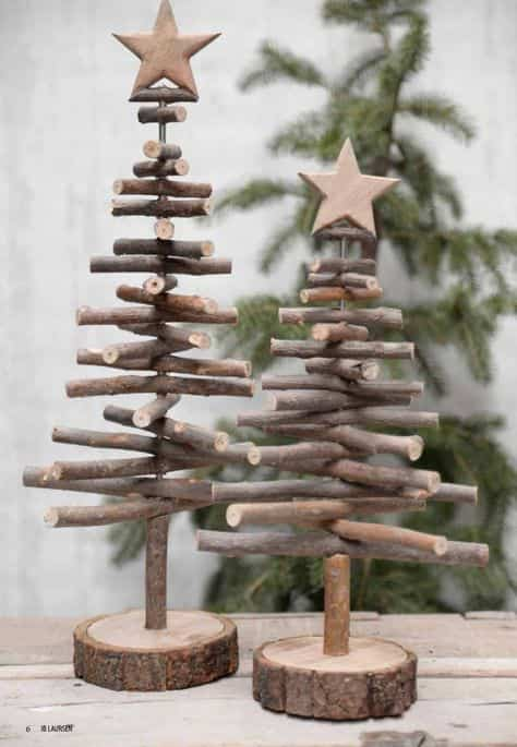 arbol de Navidad de madera V