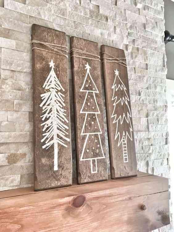 arbol de Navidad de madera VI