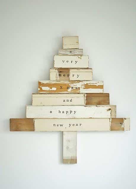 arbol de Navidad de madera VII