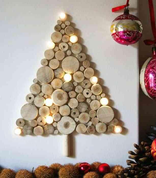 arbol de Navidad de madera XI