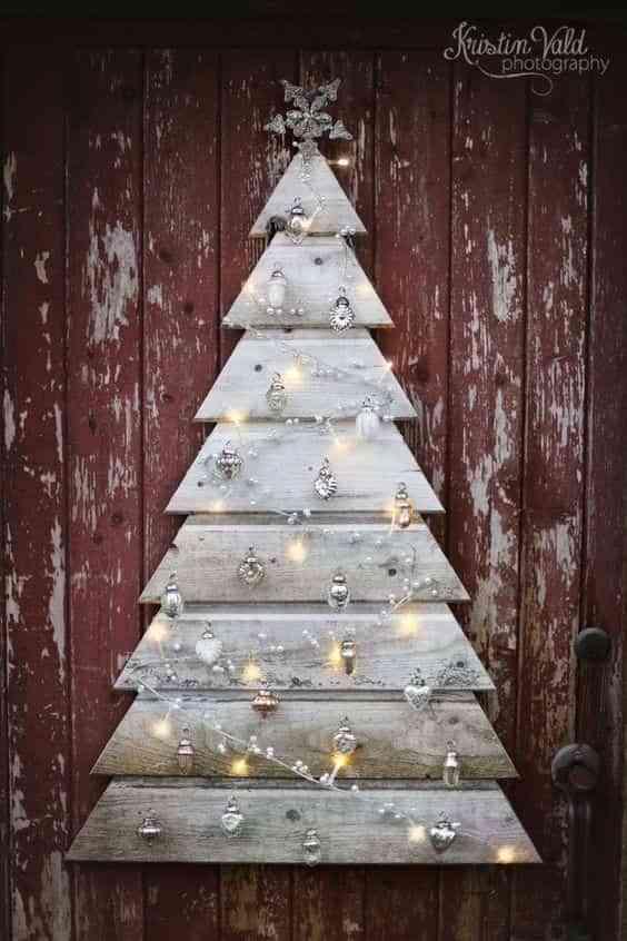 10 formas de hacer un árbol de Navidad de madera