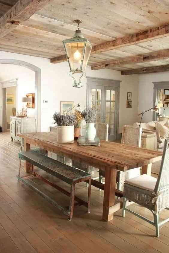 mesas con banco III