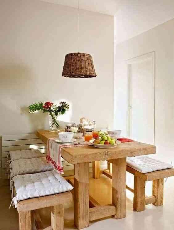 mesas con banco IX