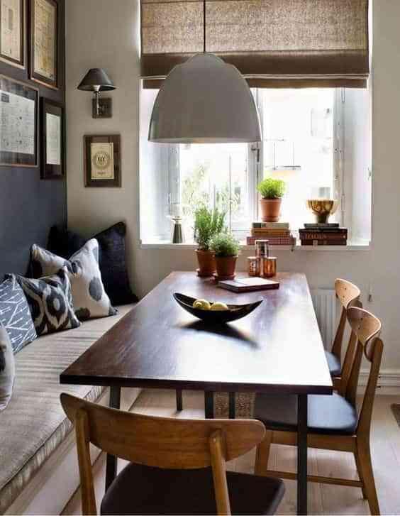 mesas con banco VII