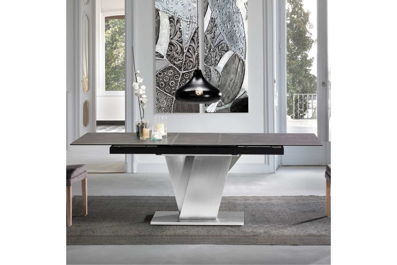 Mesas de comedor de diseño italiano combinadas: madera ...
