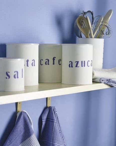 decorar con latas XI