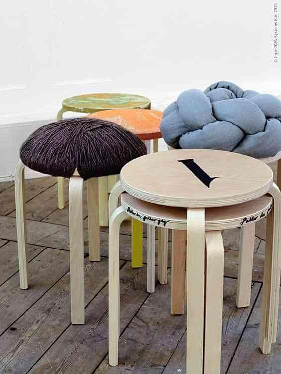 Cómo personalizar el taburete Frosta de Ikea ¡Nueva vida a lo de siempre!