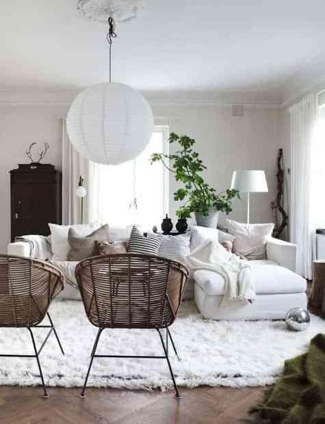 decorar blanco el salon VI
