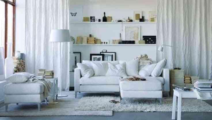 decorar blanco el salon IX