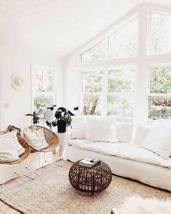 decorar blanco el salon