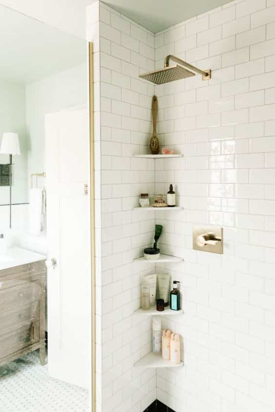 Ideas de almacenaje para la ducha. ¡Apuesta por la funcionalidad!