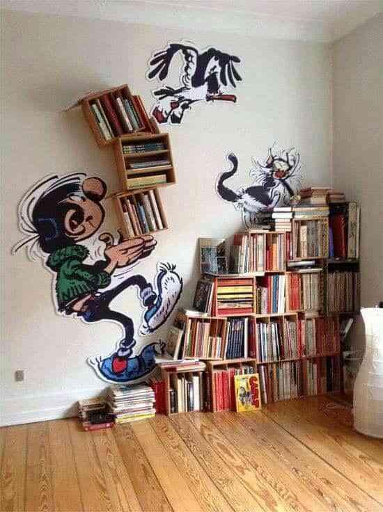decorar con libros de forma original IX