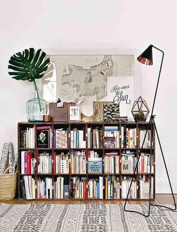 decorar con libros de forma original