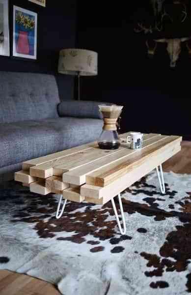 Mesas de centro originales que podrás hacer tú mismo