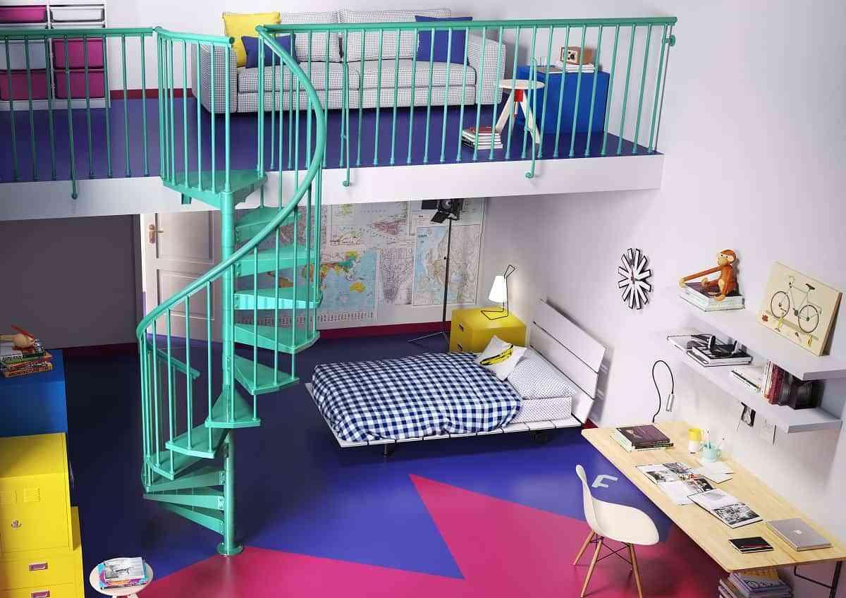 Decoración fresca y alegre para el dormitorio de los niños 2