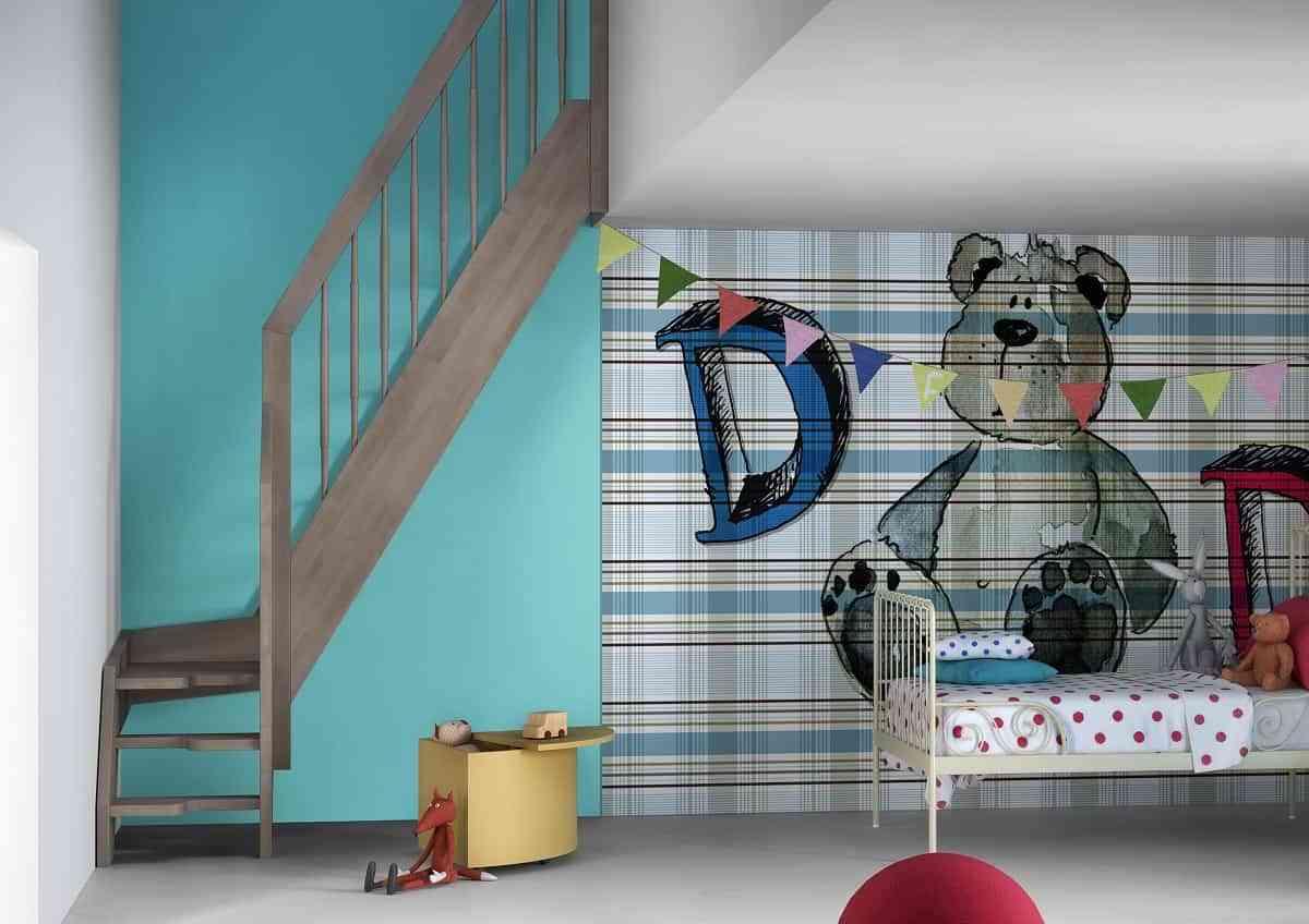 Decoración fresca y alegre para el dormitorio de los niños 1