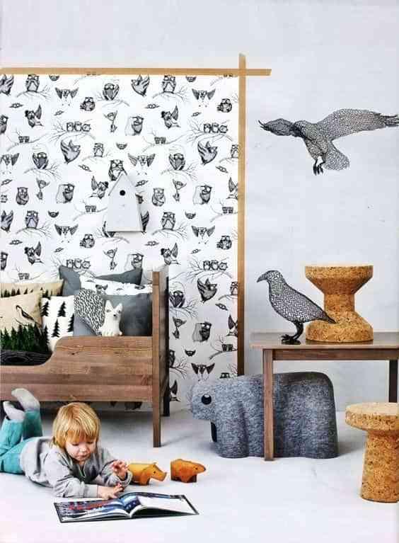 dormitorios infantiles con papel pintado II