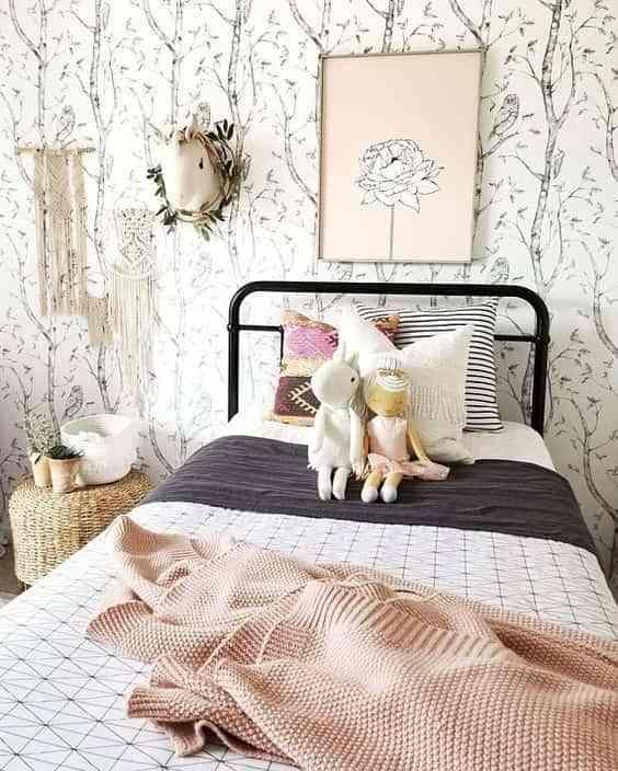 dormitorios infantiles con papel pintado V