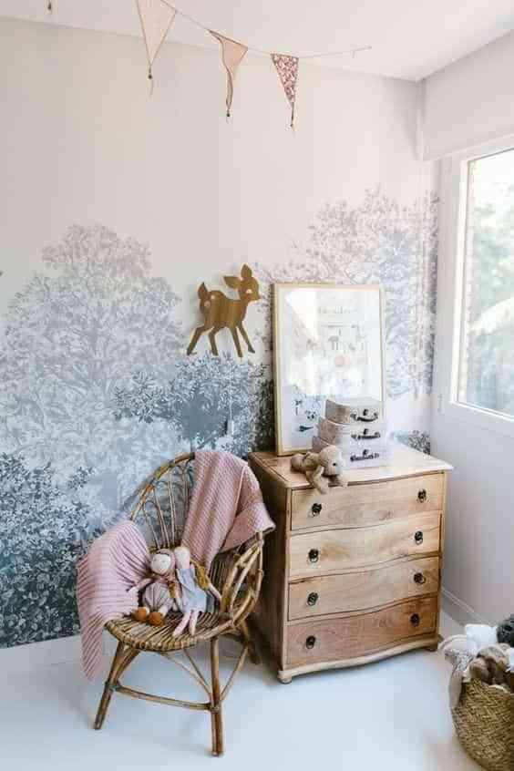 dormitorios infantiles con papel pintado VI