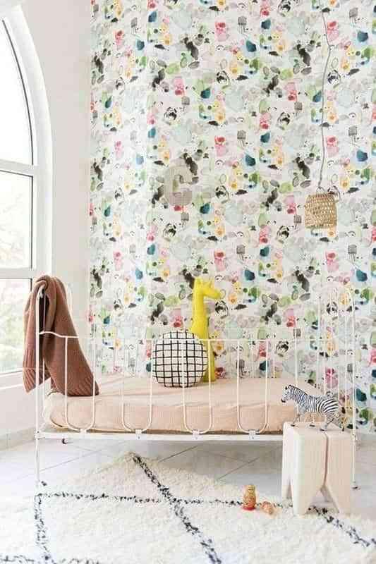 dormitorios infantiles con papel pintado X