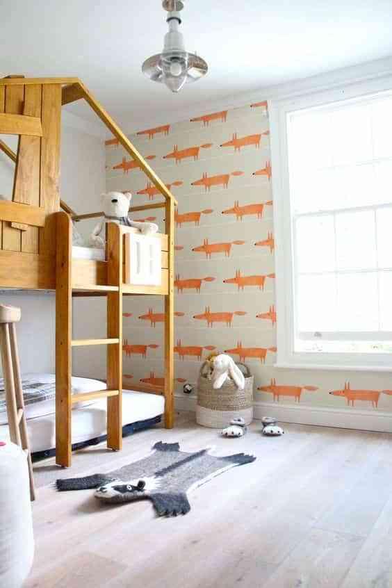 dormitorios infantiles con papel pintado XI