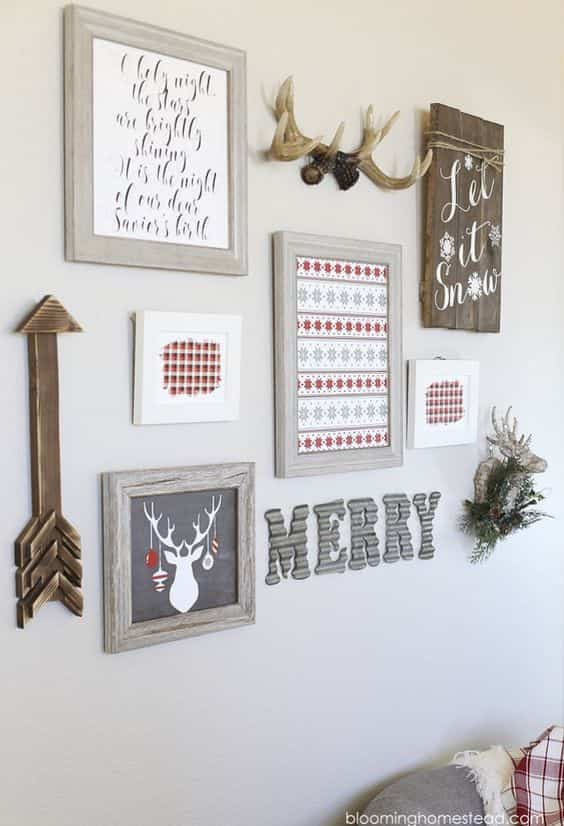 decorar las paredes en Navidad VIII