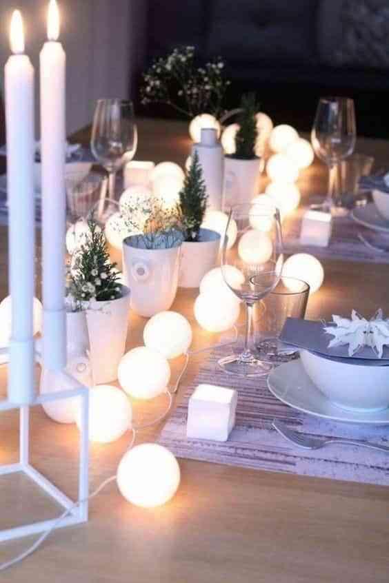 decorar la mesa en Navidad II