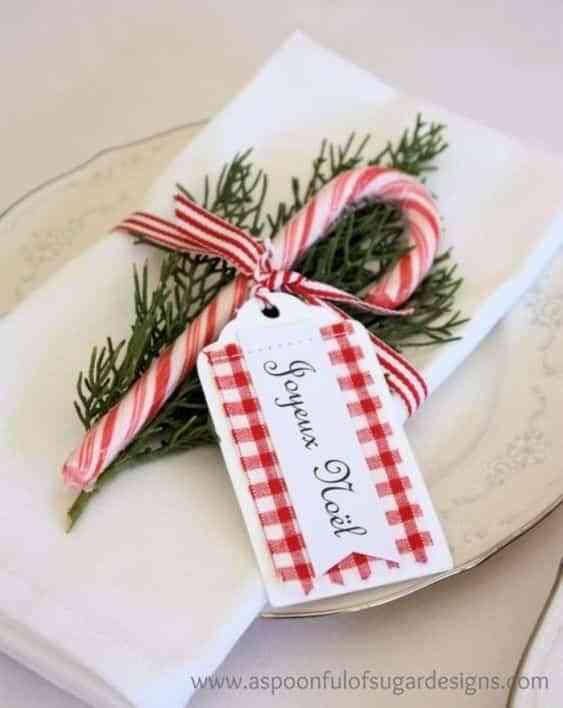 decorar la mesa en Navidad V