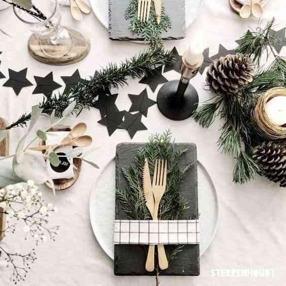 decorar la mesa en Navidad VII