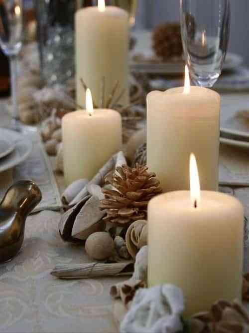 decorar la mesa en Navidad XI